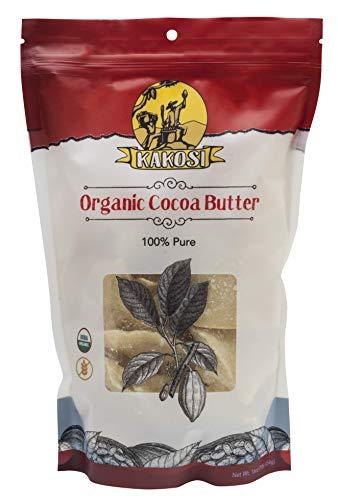 KAKOSI - Organic Raw 100% Pure Cocoa Butter - 16 oz. ()