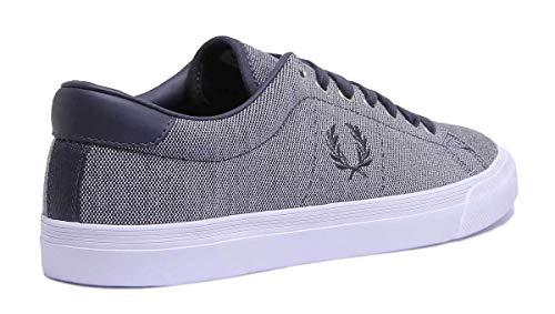 Bianco Blu c12 40 B3135 Pique Perry Fred Sneakers Underspin Blu XFSznw0q