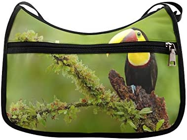 Chesnut-mandibled Toucan Messenger Bag Crossbody Bag Large Durable Shoulder School Or Business Bag Oxford Fabric For Mens Womens