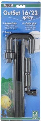 JBL Wasserrücklauf-Set mit 2-teiligem Düsenstrahlrohr für Aquarien, OutSet Spray, 60158