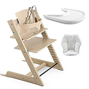 Stokke tripp trapp high chair baby set oak for Stokke tripp trapp amazon