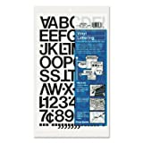 Press-On Vinyl Letters & Numbers, Self Adhesive, Black, 1h, 88/Pack (36 Pack)