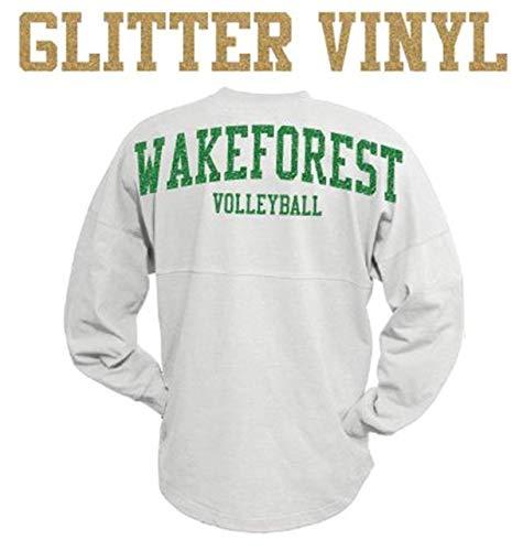Personalized Long Sleeve Oversized Glitter Vinyl Billboard Spirit Wear T-Shirt Jersey - Standard Design - Great for Schools, Sports, Teachers, Wedding, Bridal Party, Etc