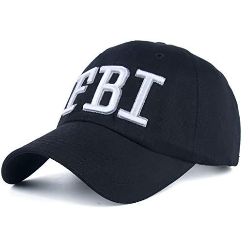 AKIZON FBI Hat Women Official - FBI Hats for Men - FBI Agent Hat - FBI Baseball Cap, Black