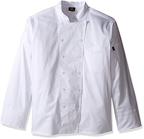 Dickies Chef Women's Plus Size Executive Coat, White, 5X-Large - Executive Chefs Jacket