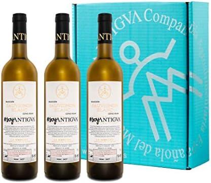 #soyANTIGVA Sauvignon Blanc Vino Blanco Serie Limitada - Selección Cepas Viejas - D.O. La Mancha - Estuche de 3 Botellas 750 ml