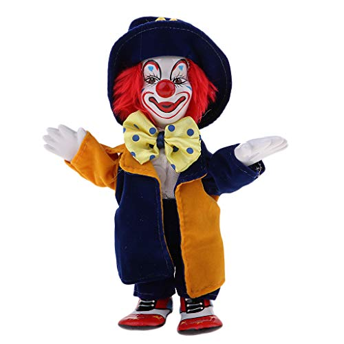 Prettyia Porcelain Clown Doll for Kids Birthday Gifts Halloween Christmas Decoration #1 (Collectible Porcelain Clown Doll)