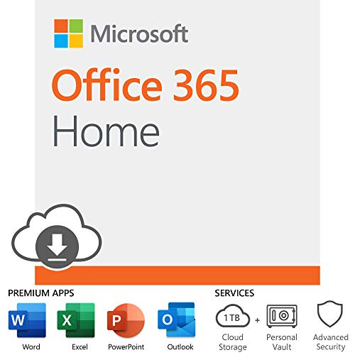 Microsoft Office 365 Home | 12-month subscription, up to 6 people, PC/Mac Download (Best Studio Monitors Under 500 2019)