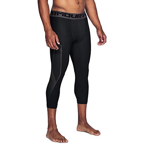 35510c1b71173 Under Armour Men's HeatGear Armour Graphic ¾ Leggings, Black  (001)/Charcoal, Large