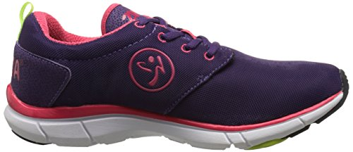 Zumba Women's Fly Print Dance Shoe, Acai/Raspberry, 5 M US