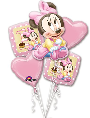 Anagram Minnie Mouse 1st Birthday Balloon Bouquet ()
