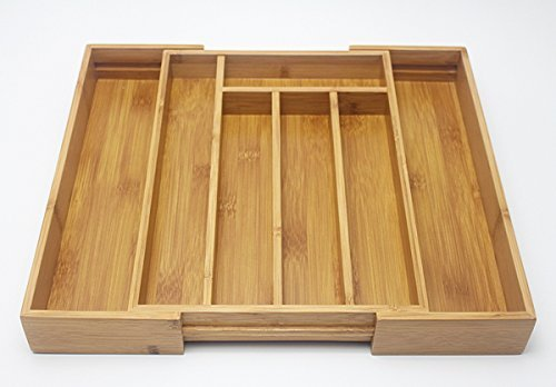 KitAidPro ™ 7-Slot Expandable Bamboo Drawer Organizer with 2 with Adjustable - King If Prussia