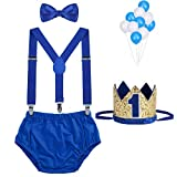 WELROG Baby Boys First Birthday Cake Smash Outfit