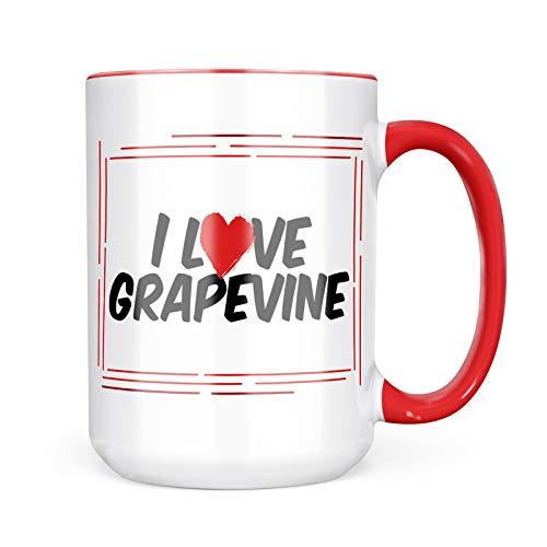 Neonblond Custom Coffee Mug I Love Grapevine 15oz Personalized Name