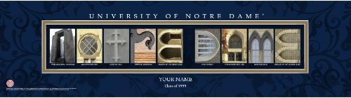 Campus Letter Art Notre Dame University Personalized and Framed