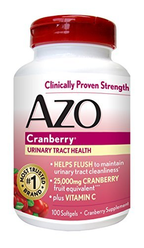 AZO Cranberry Urinary Tract Health, 25,000mg equivalent of cranberry fruit, S… – Buy Packs and SAVE Pack of 2