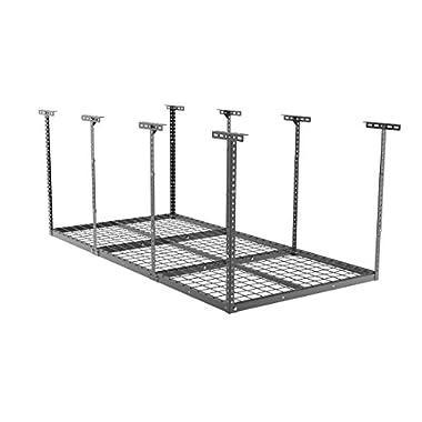 FLEXIMOUNTS 3x6 Overhead Garage Storage Adjustable Ceiling Storage Rack, 72  Length x 36  Width x 40  Height, Black