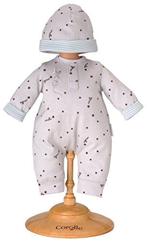 Corolle 12'' Grey Star Pajamas and Cap by Corolle