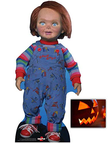 Chucky Good Guy Doll Lifesize Official Cardboard Cutout/Standup Fan Pack 75cm x 35cm Includes 8x10 Photo]()