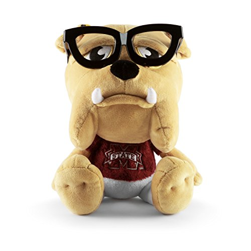 Mississippi State Bulldogs Team Glass - Fabrique Innovations NCAA Study Buddy Mascot Plush Toy, Mississippi State Bulldogs