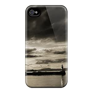 Awesome Lighthouse Flip Case With Fashion Design For Iphone 4/4s