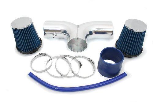 01 Injen Cold Air Intake (00 01 02 Dodge Dakota 3.7L & 4.7L Dual Short Ram Intake Blue (Included Air Filter) #SR-DG-4B)