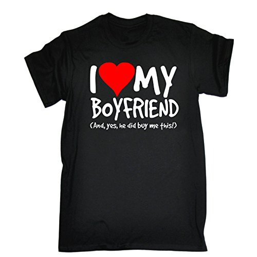 Coupe Buy Ample Did Me T I Et Slogans Pour He Love shirt 123t Yes Homme My Ce Noir Boyfriend gaPT1wq