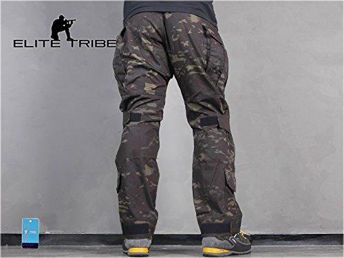 Homme Tenues de Combat Pantalon Militaire Gen3 Pantalons de Tactique et Genouillères Multicam Black 4