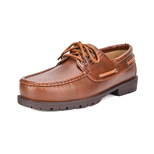 - Bruno Marc Men's Brown Boat Shoes HANKOK-01 Size 9.5 M US