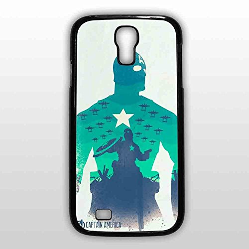 captain america poster for Samsung Galaxy S4 Black case