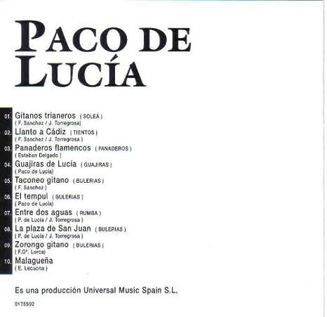 Entre Dos Aguas Y Otros Grandes Exitos: Paco De Lucia: Amazon.es ...