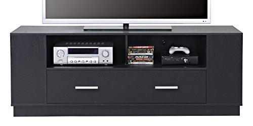 HOMESTAR 2-Drawer TV Stand in Black