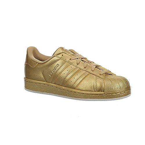 Adidas Originals Women's Superstar W Fashion Sneaker (Womens 8, Gold Metallic/Gold Metallic)