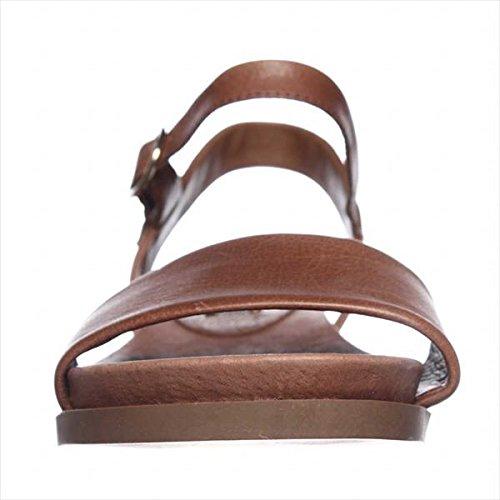 STEVEN by Steve Madden Women's Karli Flat, Cognac Leather, 8 M US