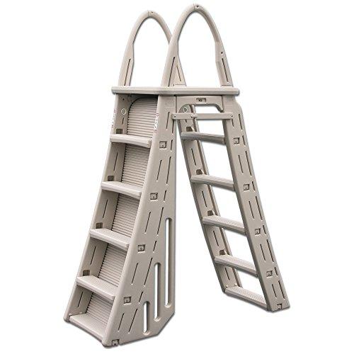 Confer Plastics A-Frame 7200 Above Ground Adjustable Pool Roll-Guard Safety Ladder (Ladders Pool Frame)
