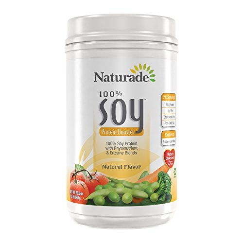 Naturade 100% Soy Protein Booster, Natural Flavor, 29.6 Ounces