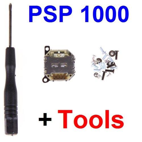 (ANALOG JOYSTICK BLACK STICK BUTTON FOR SONY PSP 1000+TOOL+19 SCREWS)
