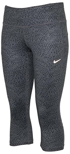 Nike Women's Dri-Fit Epic Run Tight Running Capri-Gray-XSmall