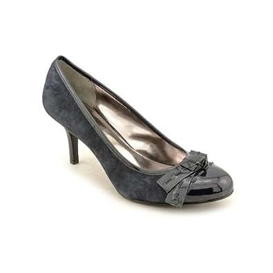 Alfani Women's Hamilton Washed Indigo Suede Patent Leather Classic Pump Size 9.5 M