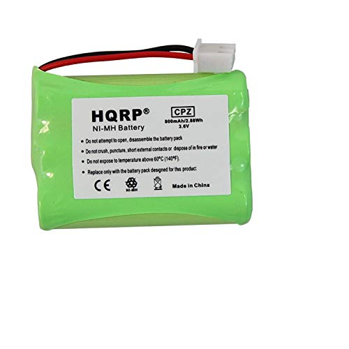 HQRP Battery Compatible with Tri-tronics 1038100 1107000 CM-TR103 1038100-D 1038100-E 1038100-F 1038100-G Replacement fits Remote Controlled Dog Training Collar Receiver ()