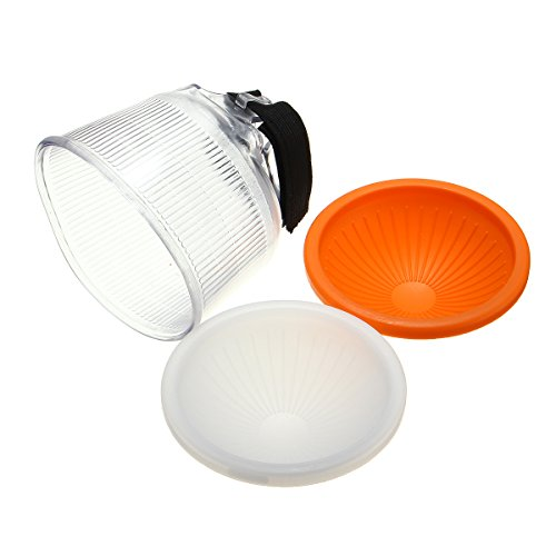 Universal Cloud Lambency Flash Diffuser + Dome Cover Set for Flash - 8