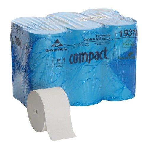 Georgia Pacific. Professional Coreless Bath Tissue, 1500 Sheets/Roll, 18 Rolls/Carton