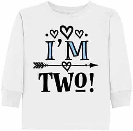 065ecfb54 inktastic - 2nd Birthday 2 Year Old Arrow Toddler Long Sleeve T-Shirt 2df59