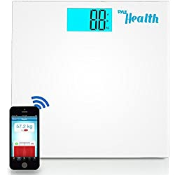 Pyle Digital Scale Smart Bathroom Body weighing scale With Wireless Bluetooth Smartphone composition analyzer for iPhone iPad & Android Devices Large Display (PHLSCBT2WT) (White)