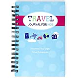 Travel Journal for Kids- Fun and Easy Way to Document Several Childhood Vacations in One Journal (Blue)