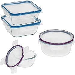 Snapware Total Solution Pyrex Glass Food Storage Container Set (8-Piece)