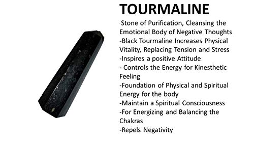 Jet Genuine Black Tourmaline Obelisk Tower Jumbo 6 Facet Aura Rock Crystal Natural Polished
