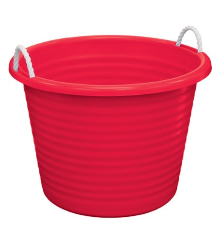 (United Solutions TU0095 Red Seventeen Gallon Tub with Rope Handles - 17 Gallon Rope Handle Rough and Rugged Tub in Red)