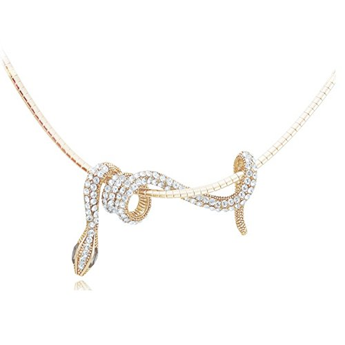Jemry Small Snake Winding Shape Pendant Necklace