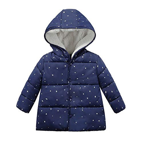 Londony ♪❤ Clearance Sales,Baby Unisex Hooded Winter Jacket Toddler Girls' Boys Fleece Lined Dot Puffer Jacket Coat